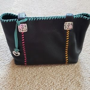 Brighton Black Pebbled Leather Handbag